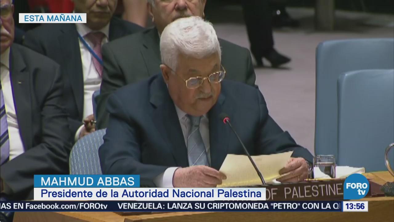 Mahmud Abbas Pide Onu Nuevo Mecanismo Negociar Paz Israel