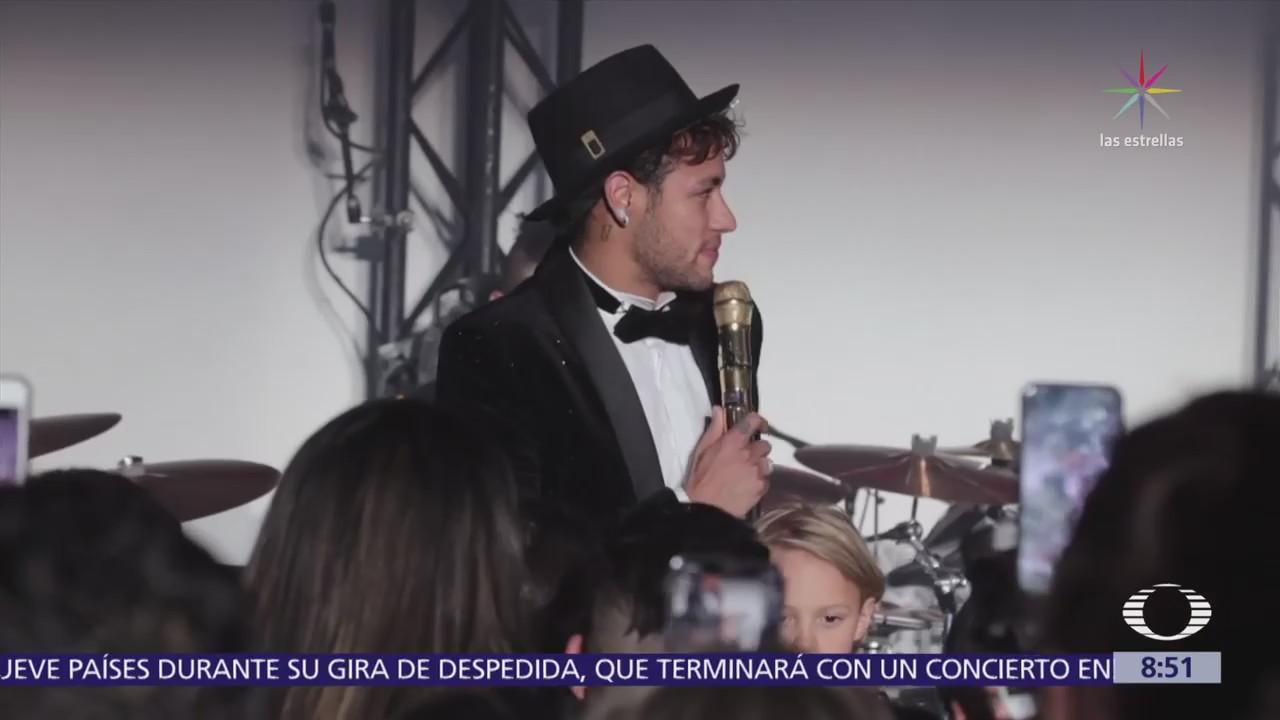 Maluma asiste a fiesta de cumpleaños de Neymar