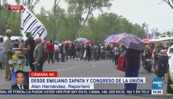 Manifestantes Llegan Congreso Unión Cdmx