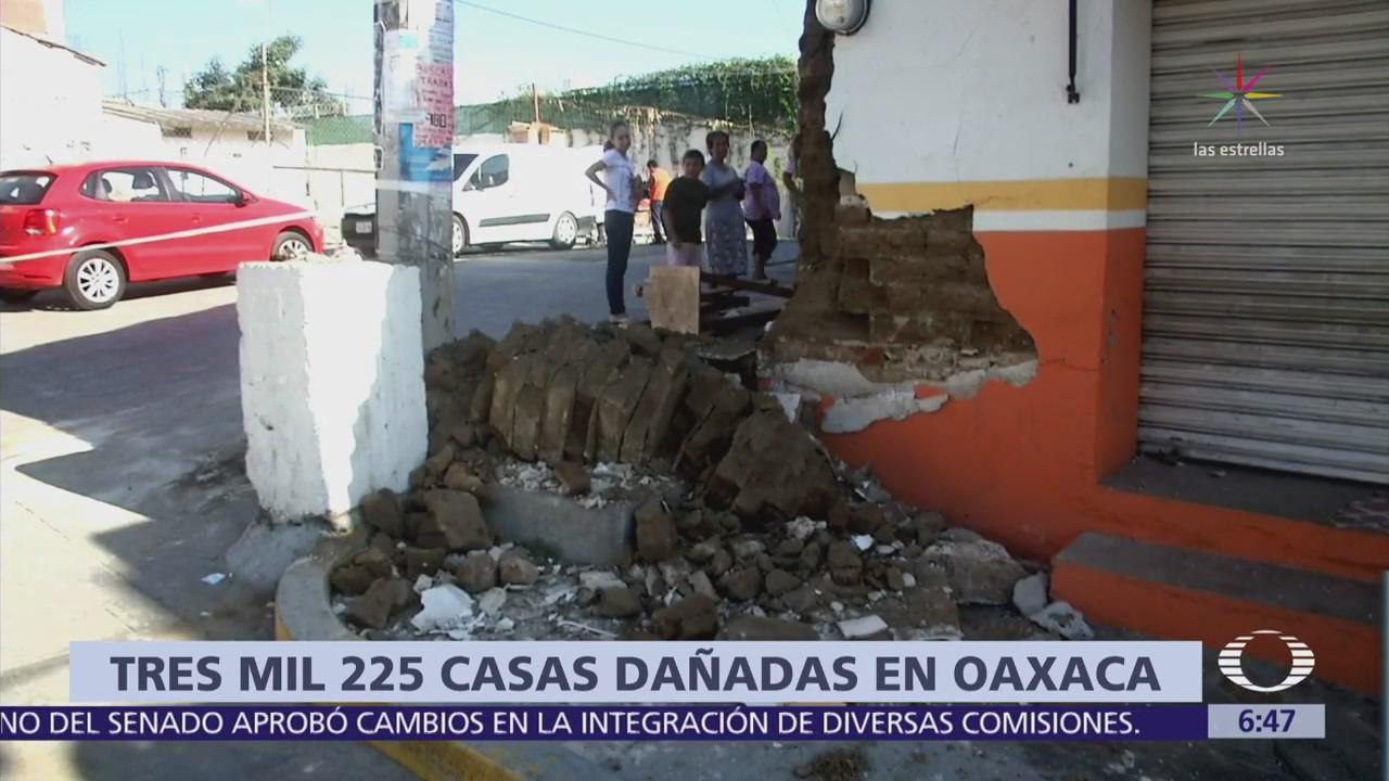 Más de 3 mil casas están afectadas en 29 municipios de Oaxaca tras sismo