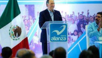 Meade rinde protesta como candidato de Nueva Alianza