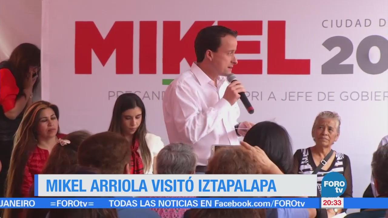 Mikel Arriola visita Iztapalapa