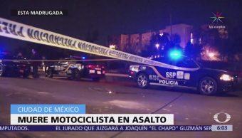 Muere motocicleta durante asalto en Coyoacán
