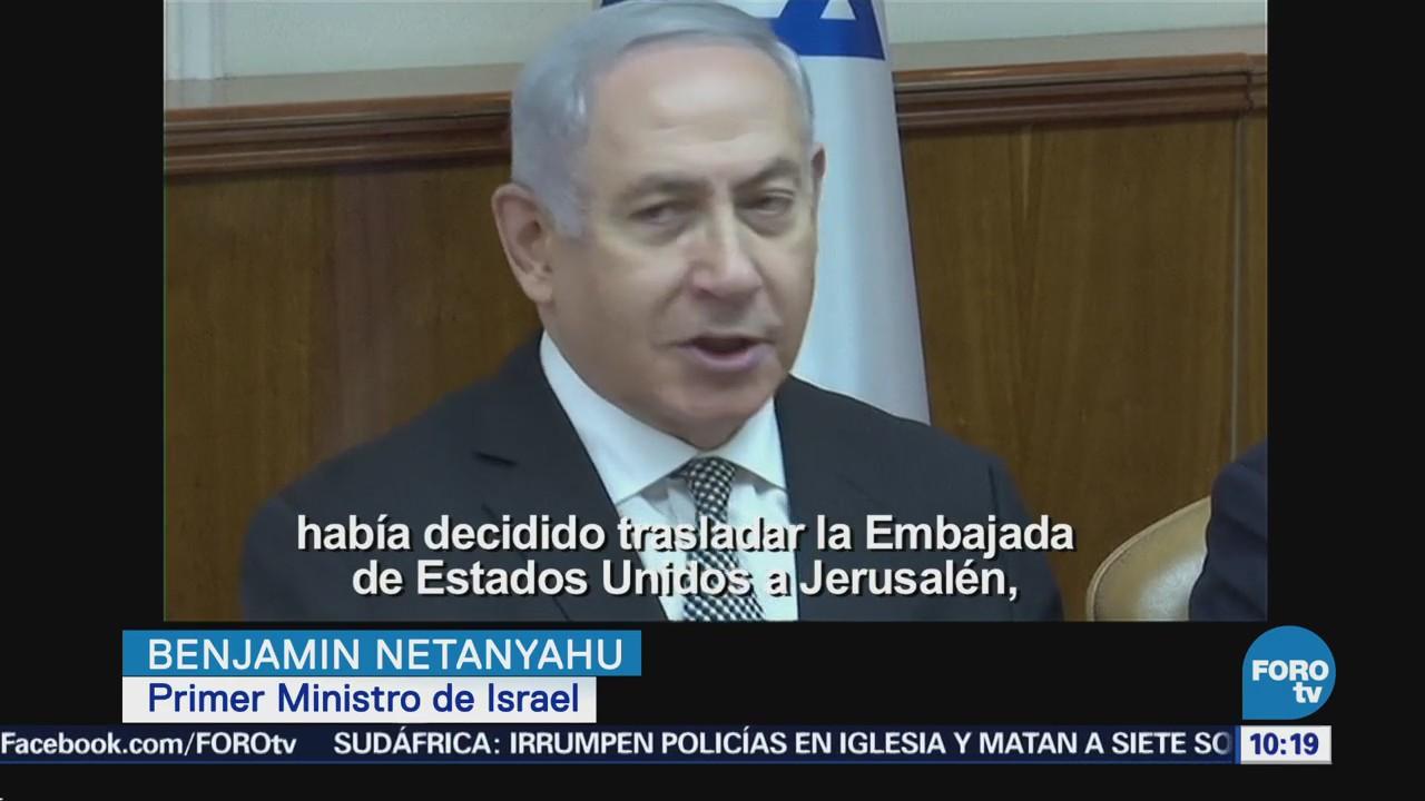 Netanyahu agradece a Trump fecha de traslado de embajada EU