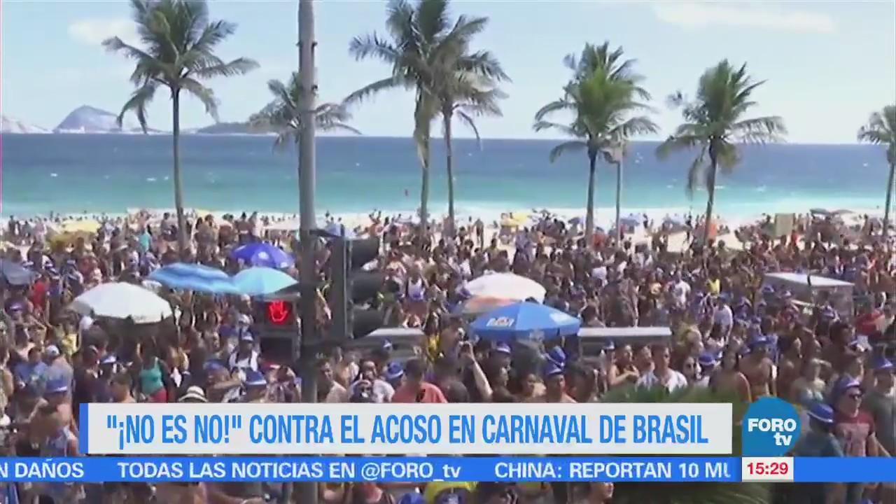 No Es No Contra Acoso Carnaval Brasil