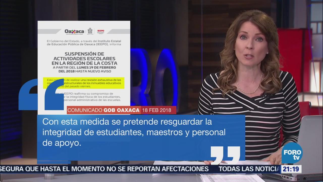 Oaxaca suspende actividades escuelas Costa tras sismo