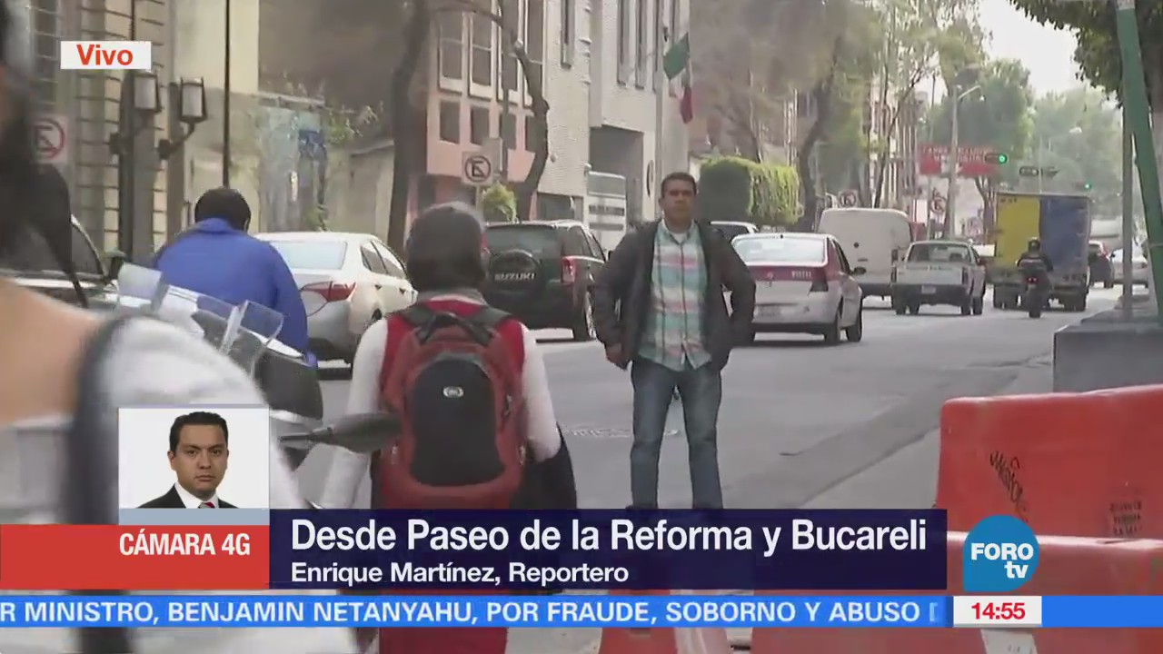 Manifestantes Llegan Avenida Bucareli Cdmx