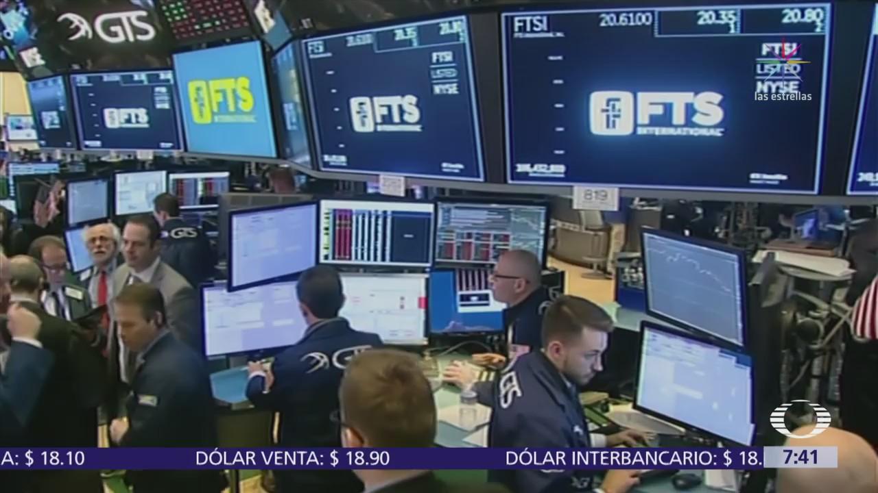 Se desploma la Bolsa de Nueva York y se borran ganancias del 2018