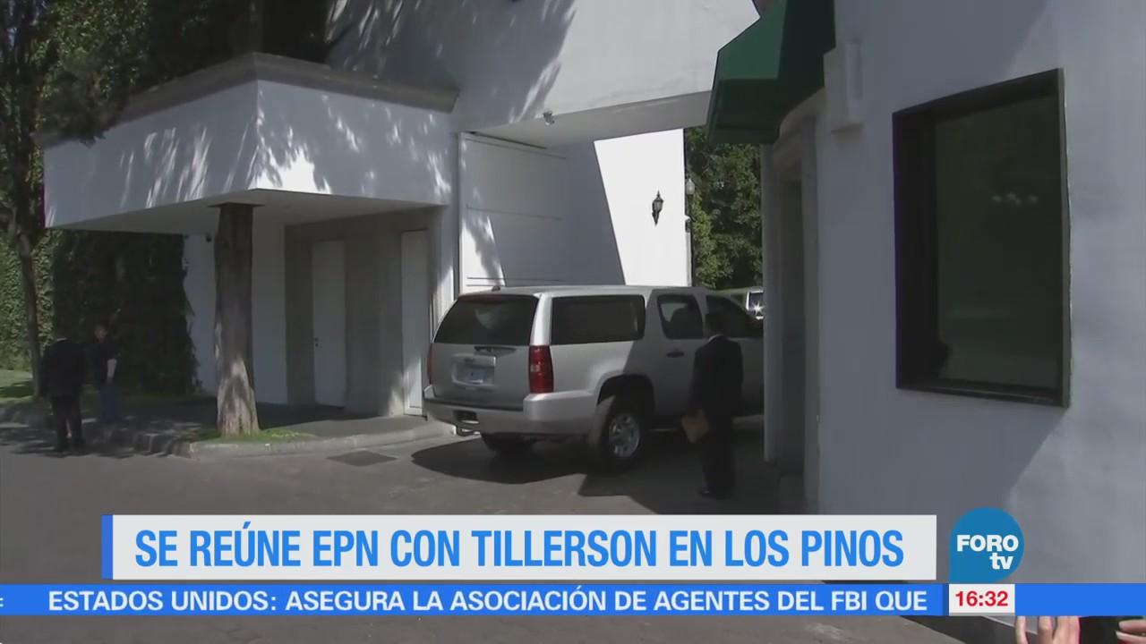 Reúne Epn Tillerson Los Pinos