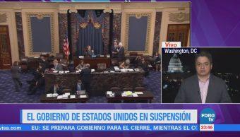 Senado de EU reanudará sesión durante la madrugada