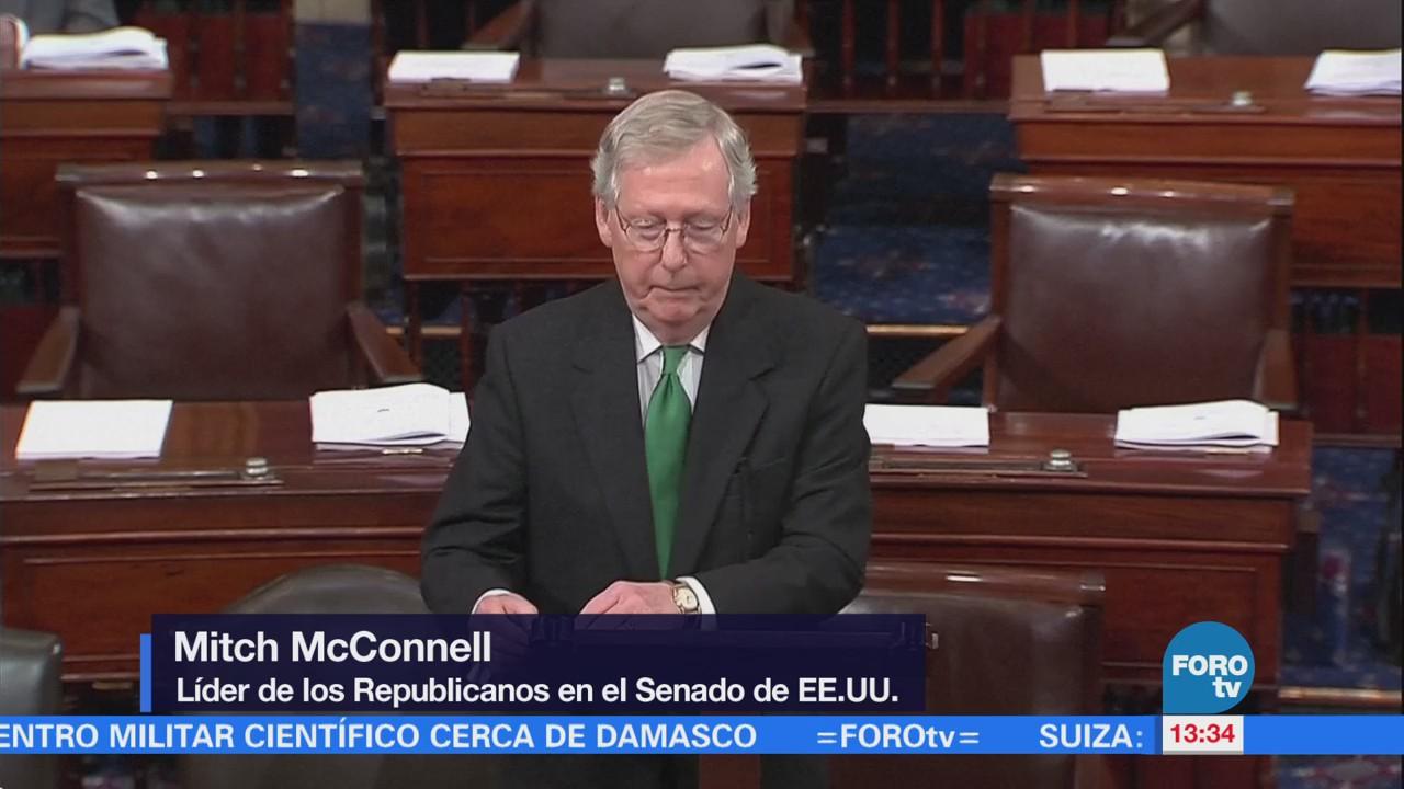 Senadores estadounidenses anuncian acuerdo contra parálisis gubernamental