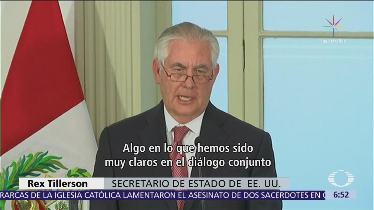 Tillerson admite que EU es el mayor mercado para drogas provenientes de Latinoamérica