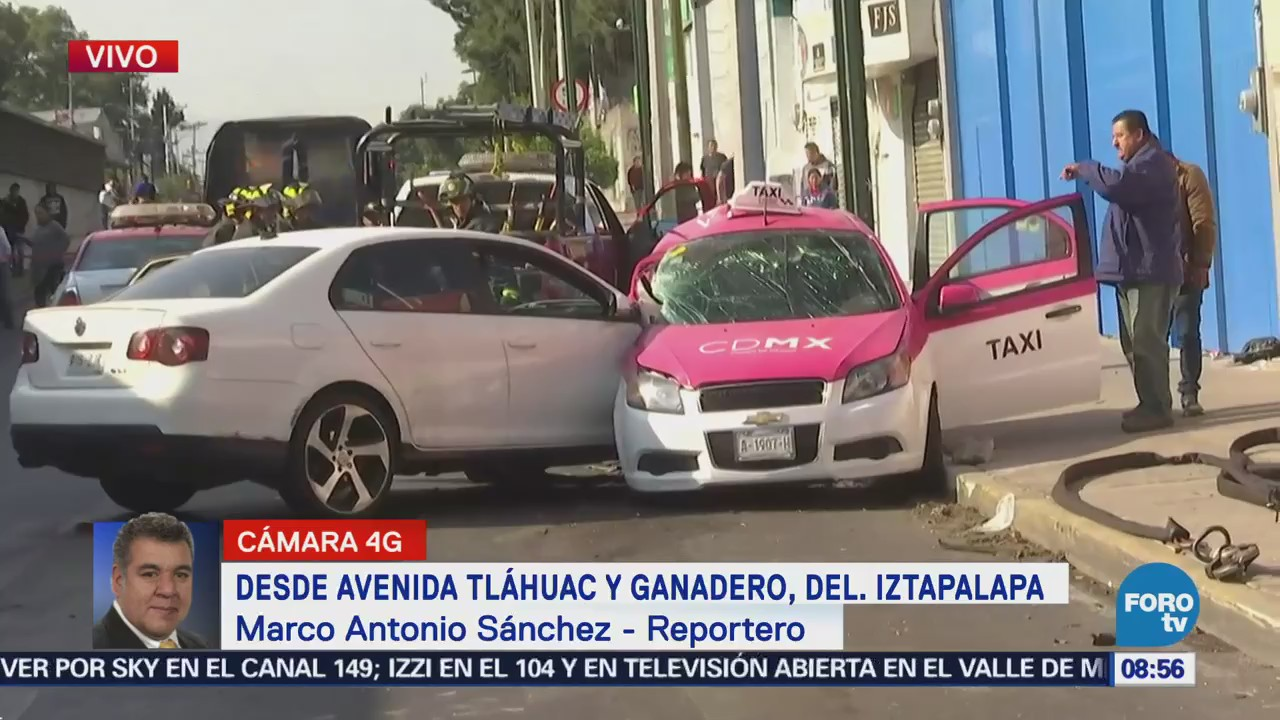 Accidente Vehicular Avenida Tláhuac Ganadero