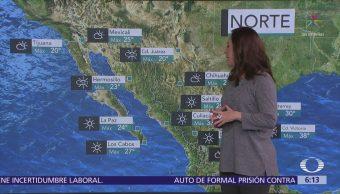 Actividad eléctrica y fuertes vientos prevén en noreste y oriente de México