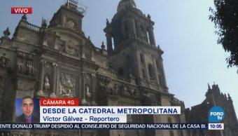 Actividades en la Catedral Metropolitana transcurren con normalidad
