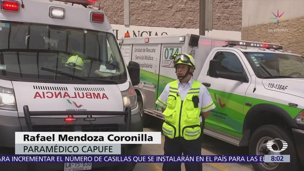 Agentes de Capufe asisten a conductores que sufren accidentes en carretera