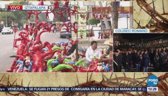 Artesanos venden el tradicional 'Judas' en CDMX