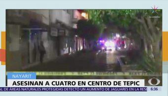 Asesinan a 4 personas en el centro histórico de Tepic, Nayarit