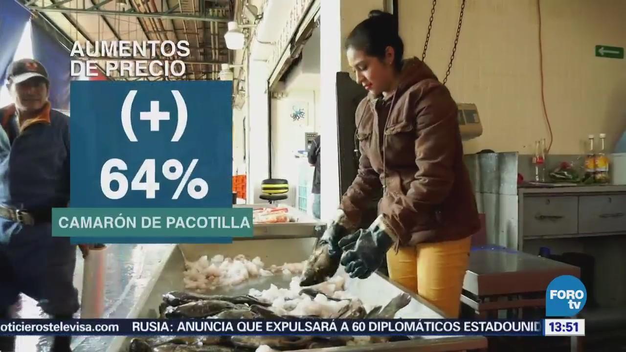 Aumentan los precios de pescados y mariscos por cuaresma