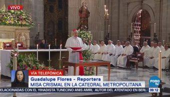 Cardenal Aguiar Retes oficia la Misa Crismal de Jueves Santo