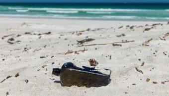 encuentran mensaje dentro botella ginebra siglo xix australia