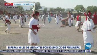 Celebran la llegada de la primavera en Teotihuacán