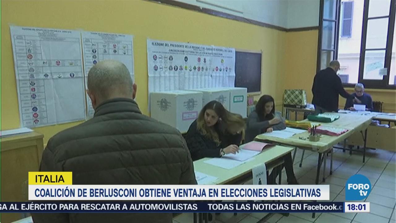 Coalición de Berlusconi obtiene ventaja en elecciones legislativas en Italia