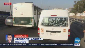 Complicaciones viales sobre la México-Pachuca, en Indios Verdes