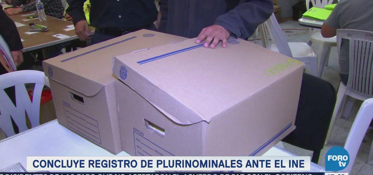 Concluye Registro Plurinominales Ante Ine