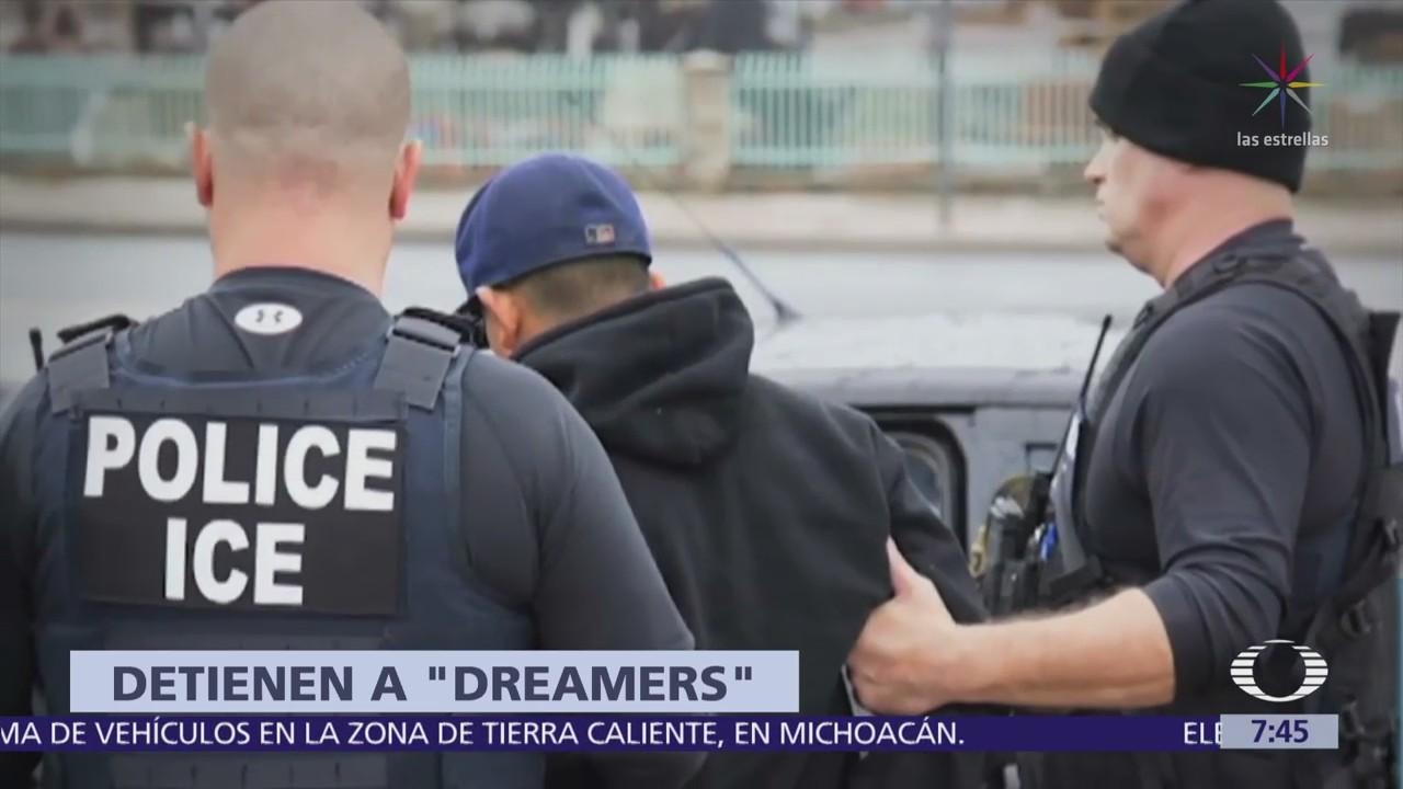 Detienen a 5 dreamers en Washington por realizar bloqueo frente al Capitolio