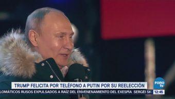 Donald Trump felicita a Vladimir Putin por triunfo electoral