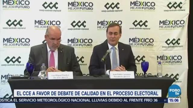Cce Favor Debate Calidad Proceso Electoral