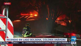 Incendio se sale de control en colonia Anáhuac