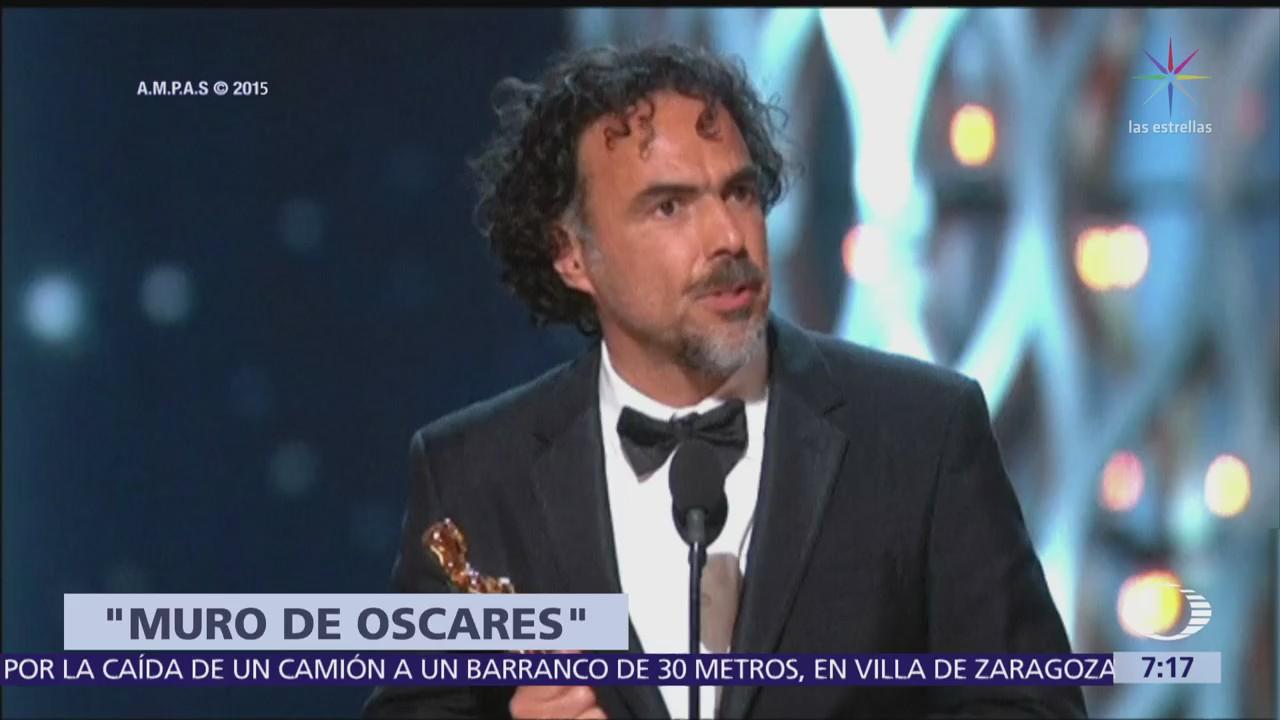 González Iñárritu pide hacer muro pero de premios Oscar