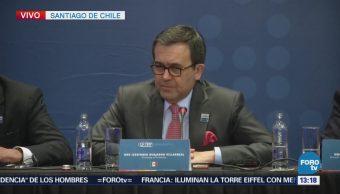 Ildefonso Guajardo habla en la firma del acuerdo comercial CPTPP
