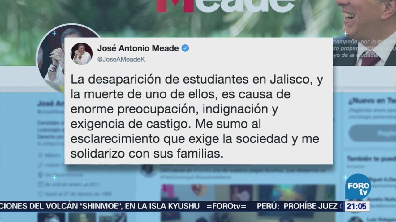 Indigna desaparición de estudiantes en Jalisco: Meade