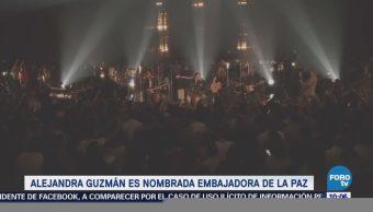 #LoEspectaculardeME: Alejandra Guzmán es nombrada Embajadora de la Paz