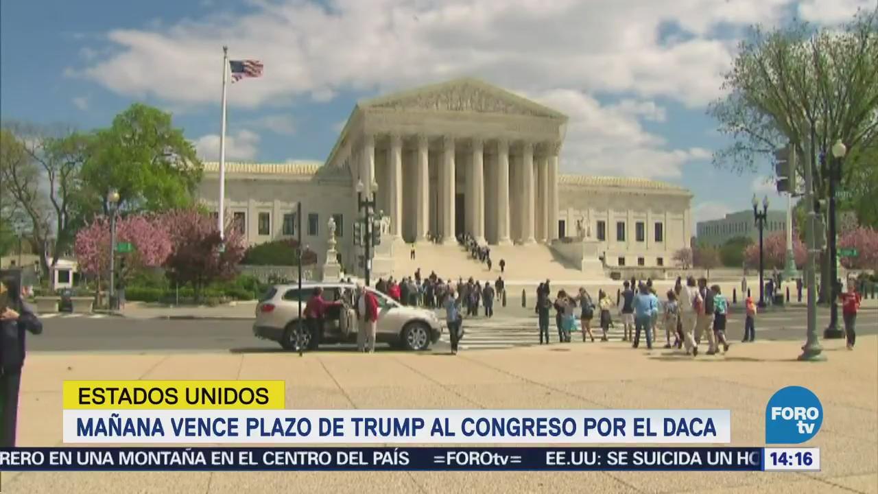Lunes vence plazo de Trump al Congreso de Estados Unidos por DACA