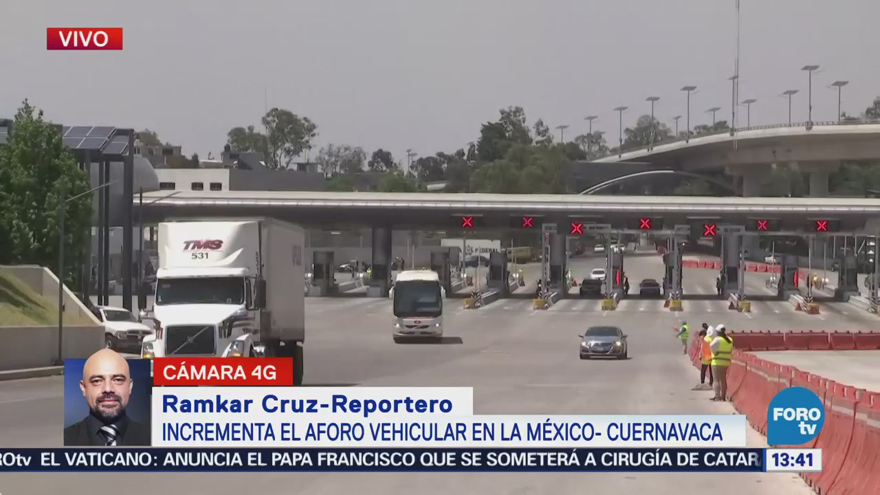 Manifestantes complican la vialidad en la México-Cuernavaca