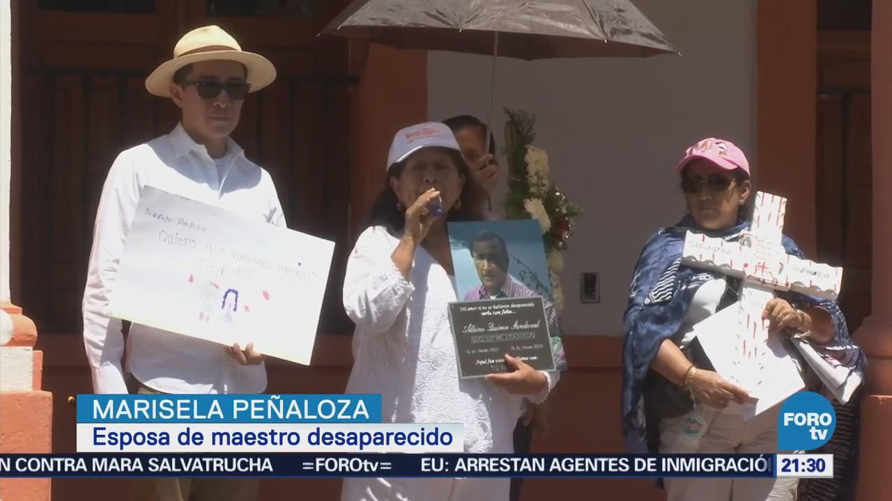 Marchan en Tepoztlán por desaparición del profesor Albino Quiroz