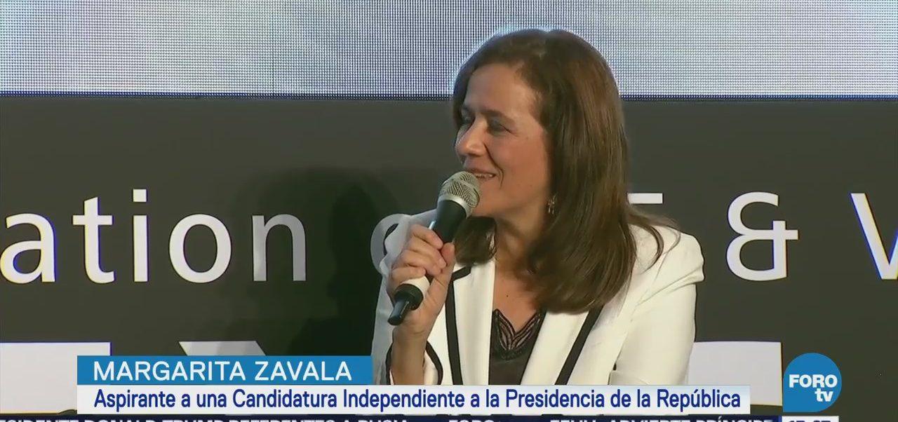 Margarita Zavala asegura que lo que le falta al país es estado de derecho
