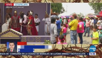 Más de 25 mil personas asisten a la 175 representación de la Pasión de Cristo en Iztapalapa