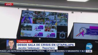 Sala Crisis Iztapalapa Participa Vigilancia Actividades Viernes Santo