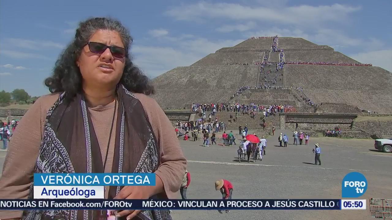 Miles de personas visitan Teotihuacán por la llegada de la primavera
