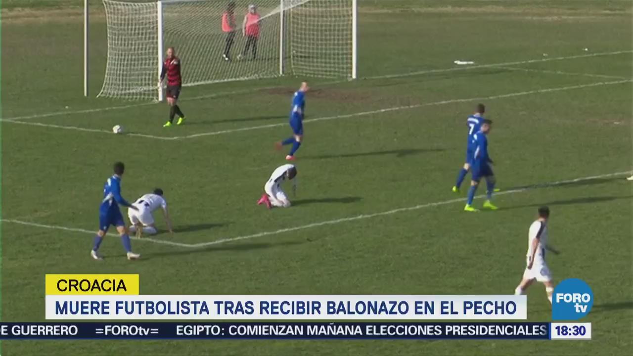 Muere futbolista tras recibir balonazo en el pecho en Croacia