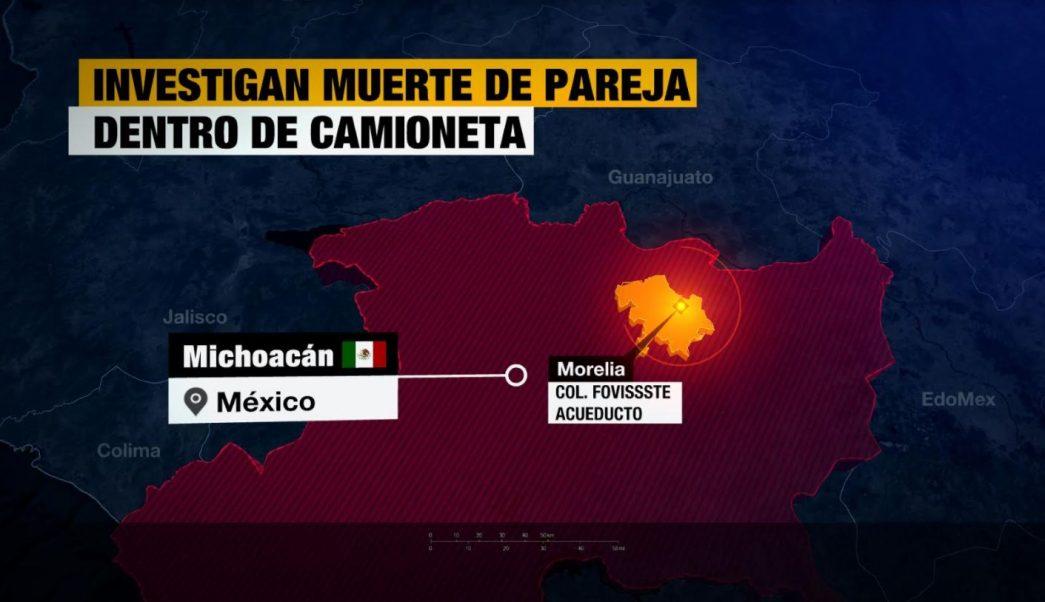 Investigan muerte de pareja encontrada dentro de camioneta en Michoacán