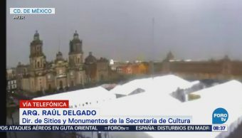 Rayo en Catedral Metropolitana causa daños menores y reparables