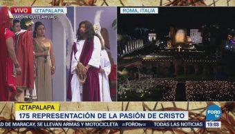 Realizan juicio en Representación de la Pasión de Cristo en Iztapalapa