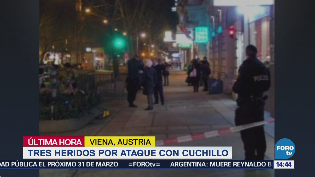 Reportan tres heridos por ataque con cuchillo en Viena