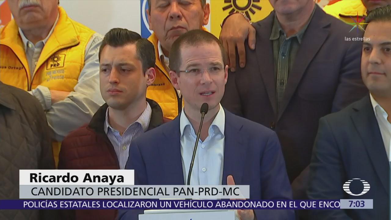 Ricardo Anaya pide a Peña Nieto sacar las manos del proceso electoral